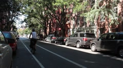 Looking Down E. 10th Street in Alphabet City Stock Footage