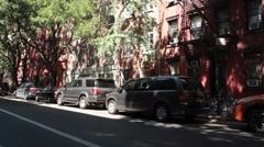 Pleasant East Village Streets in Spring Stock Footage