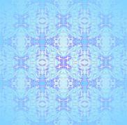 Seamless circle and diamond pattern light blue Stock Illustration