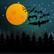 Halloween bats background Stock Illustration