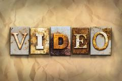 Video Concept Rusted Metal Type - stock illustration