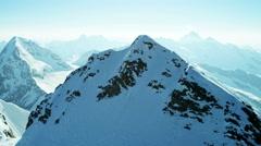 Aerial Switzerland Jungfrau summit mountain Europe Alps travel - stock footage