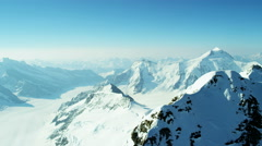 Aerial Switzerland Jungfrau summit mountain vacation travel - stock footage