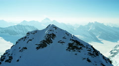 Aerial Switzerland Jungfrau summit vacation tourism travel Stock Footage