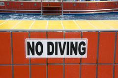 No Diving Stock Photos