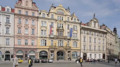 Old Town Square, Prague, Czech Republic, Europe Stock Footage