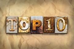 Top 10 Concept Rusted Metal Type - stock illustration