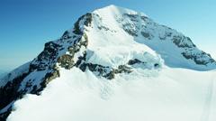 Aerial Switzerland Monch mountain Alps snow ice glacier Stock Footage