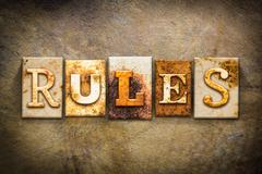 Stock Illustration of Rules Concept Letterpress Leather Theme
