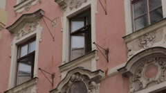 Stare Mesto Praha 1 sign on Old Town Square, Prague, Czech Republic, Europe Stock Footage