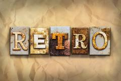 Retro Concept Rusted Metal Type - stock illustration
