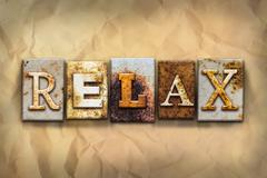 Relax Concept Rusted Metal Type - stock illustration