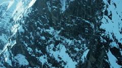 Aerial Switzerland Grindelwald Eiger summit mountain North Face Stock Footage