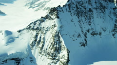 Aerial Switzerland Jungfrau summit mountain Europe Alps - stock footage