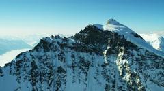 Aerial Switzerland Jungfrau summit mountaineering outdoor Alps - stock footage