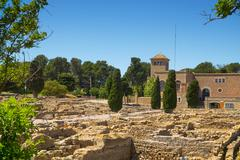 ancient greek archaeological remains of Empuries, in La Escala, Spain - stock photo
