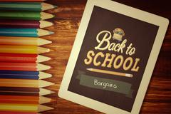 Composite image of back to school - stock photo