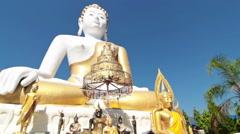 Buddha Image  Chiang Mai, Thailand Stock Footage