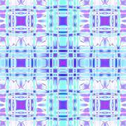 Seamless checked pattern blue purple shining - stock illustration