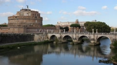 ROME - Castel Sant'Angelo (Mausoleum of Hadrian) 1 [2015] Stock Footage