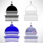 Capitol Icons Stock Illustration