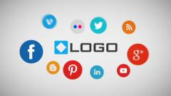 Stock After Effects of Simple Business Social Media Logo Sting Animation Ident
