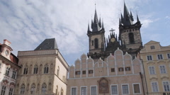 Church of Our Lady in the Old Town Square, Prague, Czech Republic, Europe Stock Footage