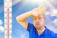 Its a very hot day - stock photo