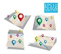 Map  Flat style design Stock Illustration