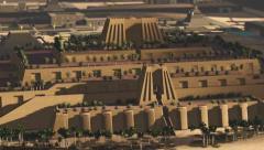 Ancient Ziggurat Temple Stock Footage