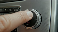 Hand Operating Navigation System wheel inside Volvo v70 Stock Footage