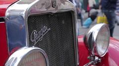 Vintage Tourist Car, Old Town Square, Prague, Czech Republic, Europe Stock Footage