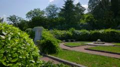 Beautiful park in the Livadia Palace. Crimea, Summer 2015. Stock Footage