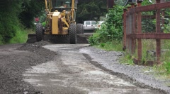 ROAD GRADER, front view - stock footage
