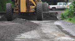 ROAD GRADER, head on Stock Footage