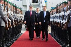 President of Ukraine during his visit to Berlin Stock Photos