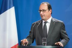French President Francois Hollande - stock photo