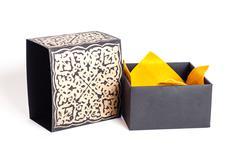 Black gold purple underwear box Stock Photos