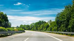 Asphalt Autobahn Highway Road, Germany - stock photo