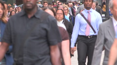 Toronto downtown financial and business district during stock market crash - stock footage