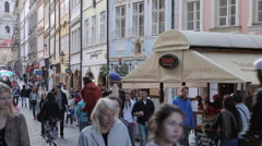Mostecka Shops, Prague, Czech Republic, Europe Stock Footage