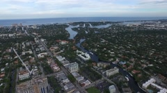 View of Fort Lauderdale, Florida. architecture and nature Stock Footage