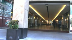 Entrance to one of the modern big  shopping centers. Dusseldorf. Germany Stock Footage
