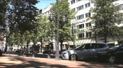 "Historic avenue ""Koenigs Alley"" at summer weekend Stock Footage"