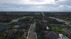 Neighborhood aerial view Stock Footage