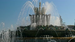 Fountain Stone Flower in All Union Exhibition Center, Moscow Stock Footage