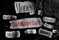 Stock Market Crash - stock photo