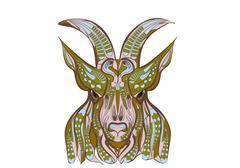 Ethnic goat Stock Illustration