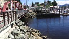 Creek Street, Ketchikan, Alaska, bridge Stock Footage