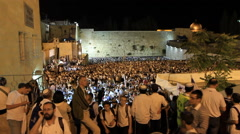 People Celebrate during Jerusalem Day Stock Footage